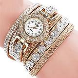 #10: Saingace Women's Watch Fashion Casual Analog Quartz Bling Rhinestone Bracelet Watch for Women Girls