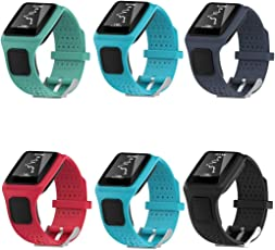 Voberry Replacet Silicone Soft Band Strap for Tomtom Multi Sport/Cardio GPS Watch