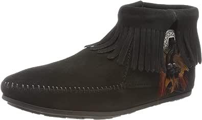 Minnetonka Concho Feather Boot, Stivali Bassi Donna