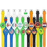 Taffstyle® Fanartikel Silikon Armbanduhr Gummi Trend Watch Quarz Fan Uhr mit Fussball Weltmeisterschaft WM & EM Europameisterschaft 2016 Länder Flaggen Style