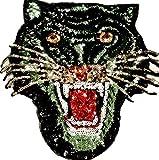 b2see Pailletten Strass Glitzer Tiger Aufnäher Patches groß Tiger für Jacken Aufbügler zum aufbügeln Sehr hochwertiger G