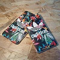 Hülle Handytasche Schutzhülle Adidas mit tropischem Blumenhintergrund Logo Branding für Samsung Galaxy J5 (2017)