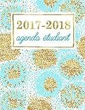 Telecharger Livres Agenda etudiant Planning scolaire hebdomadaire turquoise et fleurs dorees (PDF,EPUB,MOBI) gratuits en Francaise