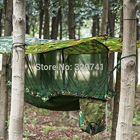 littlepig antimosquitos columpio Jardin al Aire Libre Camuflaje tienda de campaña hamaca mosquito-curtain jardín columpio cama multifunción Hamaca red