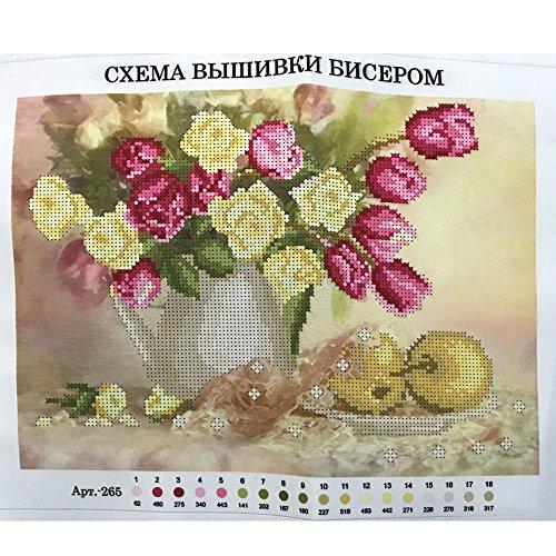 Perlenstickerei Komplett Set Tulpen 27x35cm 0616-7