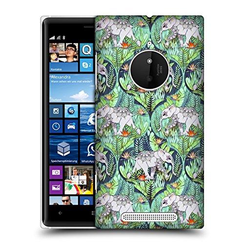 Head Case Designs Offizielle Micklyn Le Feuvre Baby Elefant Und Dschungel-Abenteuer Tiere Ruckseite Hülle für Nokia Lumia 830