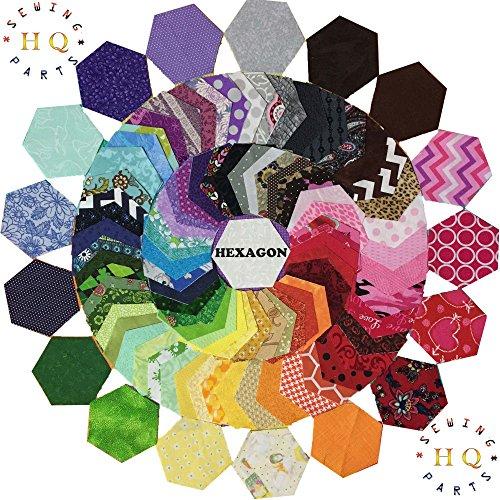 Sechseckige Stoff-Flicken (Charm Pack), bunt bedruckt, für Patchwork-Quilten, 30 Stück–12,7cm –100% Baumwolle, 100 % Baumwolle, Halloween, 5
