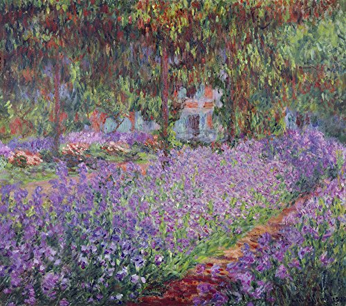 Get Custom Art Monet - The Artists Garden at Giverny 24x28 inch Non-Canvas Poster Print -