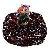 Spielzeug Aufbewahrungstaschen mit reißverschluss, Sitzsack Kinder Stofftier Kuscheltiere Aufbewahrung Aufbewahrungstasche Soft Pouch Stoff Stuhl (G)