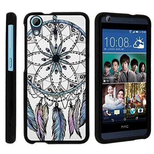 turtlearmor | Kompatibel für HTC Desire 626Fall | Desire 626s | Desire 650[Slim Duo] Zwei Stück Hard Cover Slim Snap auf Fall auf Schwarz -, Dreamcatcher Feathers (Htc Desire Virgin Mobile Fall)