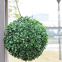 Tutoy Bola Topiario Artificiales Plástico Decoración Del Árbol De La Planta-30 Cm