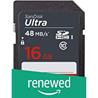 (Renewed) Sandisk 16GB Ultra SDHC UHS-I Memory Card for Camera