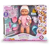 Nenuco - Sara, muñeca 11 funciones interactivas: cierra los ojos, come papilla, bebe biberón, hace babitas, pipí en orinal, p