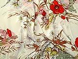 Floral Print Seide Crepe Kleid Stoff Meterware &