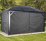 Sojag Aluminium Pavillon Moreno Vorhänge Seitenteile Anthrazit / passend für Gartenlaube Moreno