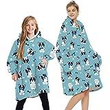 Loalirando Oversized Hoodie Blanket Fluffy Fleece Blanket Hoodie for Women Men Kids Wearable Hooded Blanket with Big Pocket