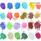 Polvere di Mica,Polvere di Mica Pearl Pigmento– 24 Bellissimi Colori (5g) – per Fare Sapone Bagno Unghie Bombe Rossetto Ombretto – Sapone Rendendo Colorant