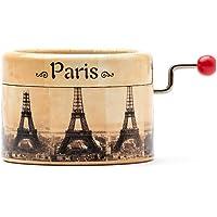 Carillon manovella decorato con la Torre Eiffel Parigi che suona il Valzer di Amelie. Francia souvenir. La Valse d…