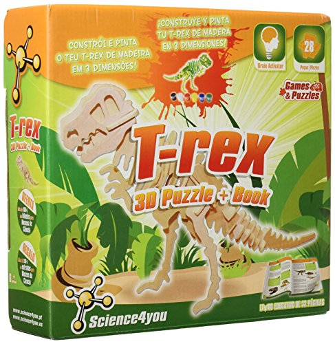 Science4you - T-Rex, Puzzle 3D - Juguete científico y Educativo