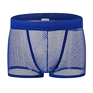 Tenchif Ropa interior para hombre Vea a travs de Boxers transparentes Pantalones cortos Calzoncillos