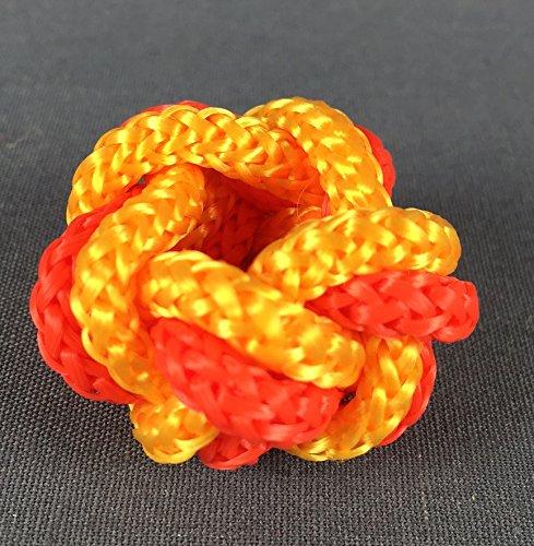 Makrameeknoten orange / gelb für Halstuch