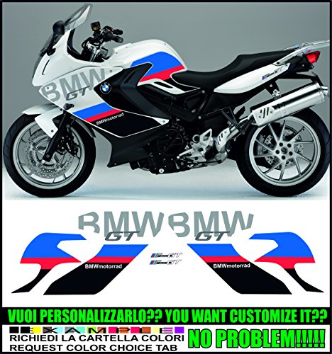Kit adesivi decal stikers BMW F800 GT MOTORSPORT 2013 2016 (ability to customize the colors)