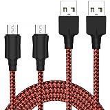 Cable Micro USB [2-Pack, 2M] Yosou Cable Android de Nylon Cargador Micro USB Carga USB Compatible con Dispositivos Android, S