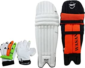 WASAN Cricket Batting LEGGUARD Pads and Cricket Batting Gloves Set-(10-16 Years)