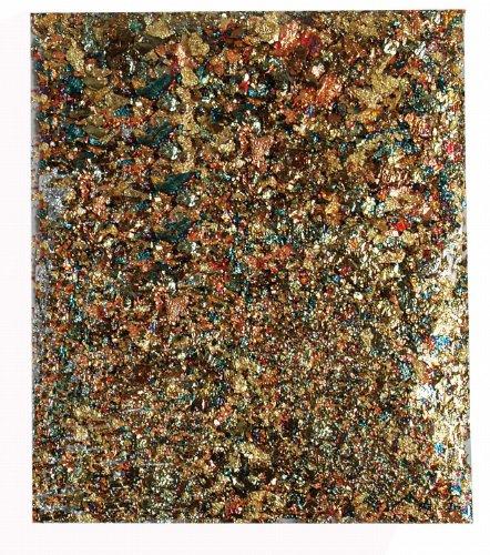 Kreul 99433 - Art Deco Blattmetallflocken, zum Veredeln von Holz, Papier, Leinwand, Kartonage, Styropor, Kunststoff, Wachs, Keramik, Porzellan und vielem mehr, 2 g für ca. 0,33 qm, metallic mix -