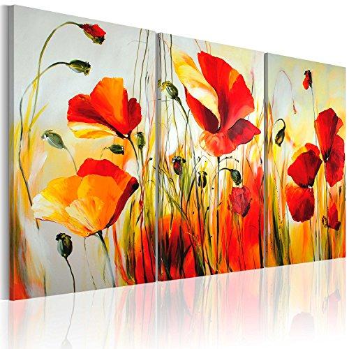 100% pintados a mano - cuadro pintado a mano + fotos directamente del artista + pintura + pinturas de paredes modernas + dise?os únicos e irrepetibles - cuadro en lienzo + tríptico 3 partes + flores + 22035 + 120x80 cm +++
