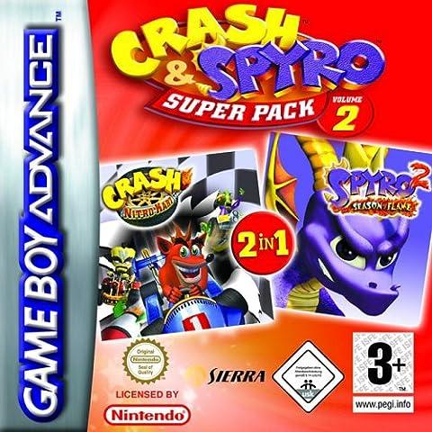 Crash and Spyro Super Pack Volume 2: Crash Nitro Kart/Spyro: Season of Flame (GBA) [import anglais]