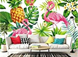 Yosot 3D Tapete Nordic Handbemalte Tropische Pflanze Flamingo Tv Sofa Hintergrund Wand -250cmx175cm