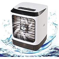 GOLDGE Climatiseur Mobile 3 en 1 Mini Climatiseur-Humidificateur, Ventilateur, Refroidisseur, 7 Couleurs LED Light…
