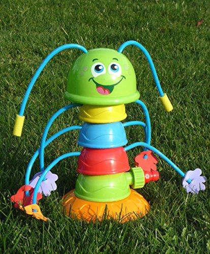 Preisvergleich Produktbild Kinder Wassersprinkler Raupe mit 8 Spritz-Armen Höhe 25,5cm