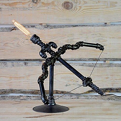 Pointhx Steampunk Wasserpfeife Schreibtischlampe Industrielle Retro Wasserpfeife Tischleuchte Schreibtisch Akzent Lampen für Bedside Living Room Cafe Bar -