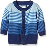 NAME IT Baby - Jungen Strickjacke nitEMIL NB so Knit Cardigan GER 116, Gestreift, Gr. 74, Mehrfarbig (Limoges)