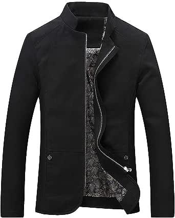 Men Jacket Men Top Casual Comfortable Zipper Jacket Business Casual Transitional Jacket Autumn New Simplicity Fashion Slim Men Jacket Lightweight Jacket