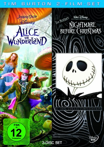 Tim Burton 2-Film-Set (3 Discs): Alice im Wunderland/Nightmare before Christmas - Powell Set