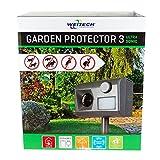 Weitech wk0055Garden Protector 3–Ultrasónico Repelente ultrasónico contra Gatos, perros, zorros, martas, conejos, Garza