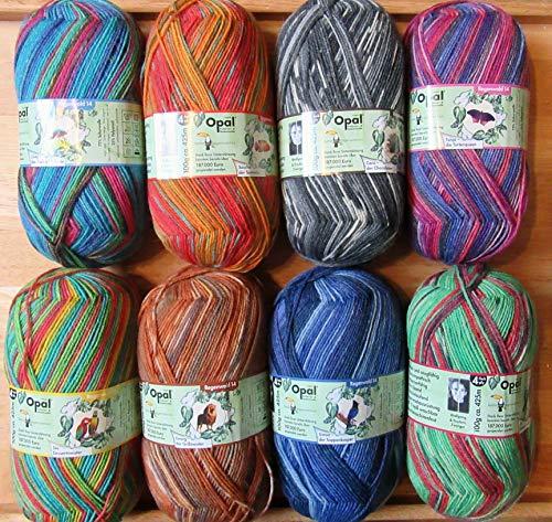 4ply Chaussette Fil Opale Paillettes Collection Lot de 6 couleurs