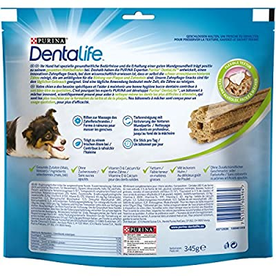 Dentalife Dental Chews for Medium Adult Dogs, 15 sticks, 345g