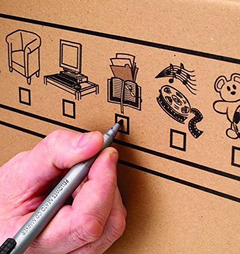 Bankers Box Umzugsbox SmoothMove klein (aus 100% recyceltem Karton, 10er Packung) braun - 12