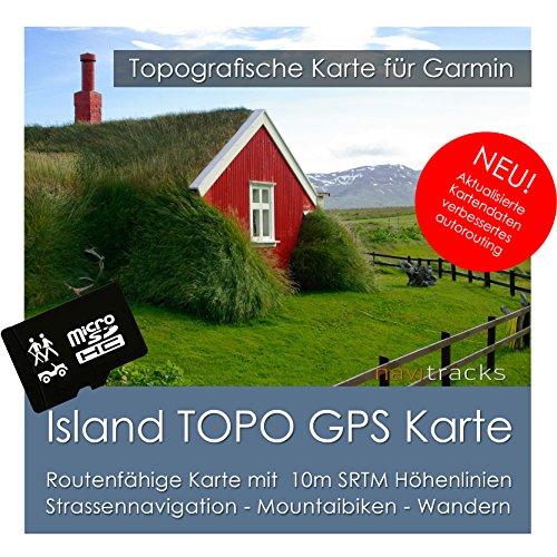 Island Garmin Karte TOPO 4 GB microSD. Topografische GPS Freizeitkarte für Fahrrad Wandern Touren Trekking Geocaching und Outdoor. Navigationsgeräte, PC & MAC -