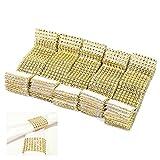 ZJchao 50 Stücke Strass Serviettenring Golden Silber Serviette Ring mit Klettverschluss für Hochzeit Weihnachten Ball Dinner Deko Tischdeko 13*4cm (L*B) (50pcs, Golden)