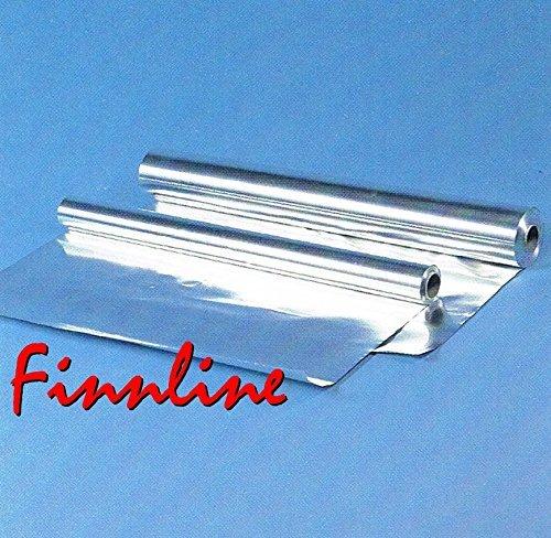 Preisvergleich Produktbild Finnline 25 m² Aluminiumfolie 0, 05 mm I 50 my I Für den Saunabau 1 m breit x 25 m lang I Sauna I Saunazubehör I Alu I Alufolie I Dampfsperre I Prime I Versand durch Amazon