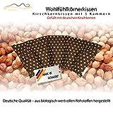 Coussin à base de noyaux de cerises/Coussin de relaxation pour le traitement thermique – Coussin chauffant mis à l'épreuve des micro-ondes (coussin chauffant) / (brun)