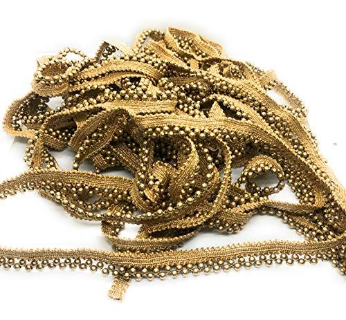 L A C E S T Y L E S, LS 9 mtr Small Pearl Laces for Dresses, Sarees, Lehenga, Suits, Bags, Decorations, Borders, Crafts and Home Décor