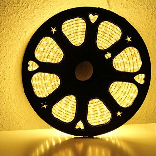 2 Meter Professioneller super helle Warmweißer LED Streifen,(60 stk. 5050 SMD, 14.4W-15W)/m,IP68,230V (30 Watts) -