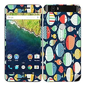 Theskinmantra Fishes Fishes Huawei Nexus 6P mobile skin