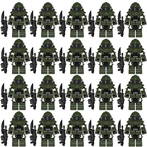 NURICH Custom EOD Kleidung + Waffen Set für Bundeswehr Pionier Explosive Ordance Disposal SWAT Team Minifiguren Satz Bausteine für Kinder, passen zum Lego